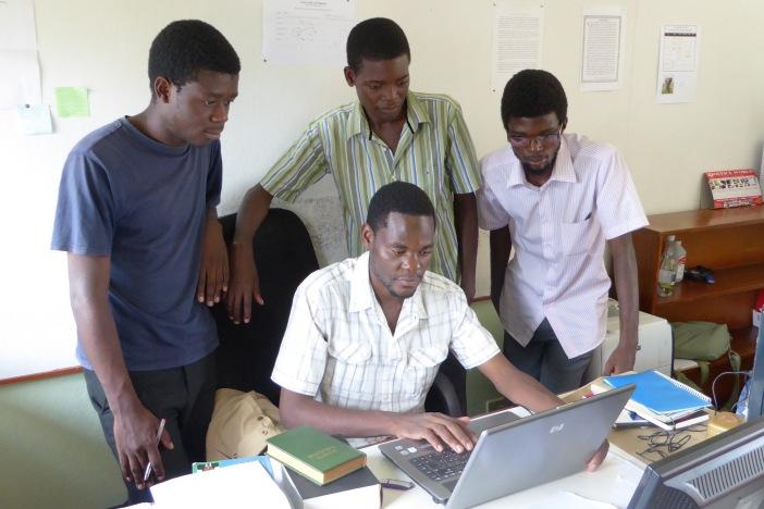 Group at Computer Small